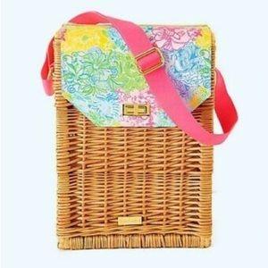 Lilly Pulitzer Wicker Wine Basket